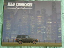 Jeep Cherokee Limited brochure Dec 1986 USA market