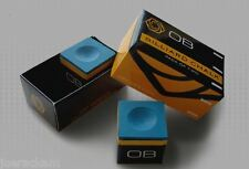6 Pieces - OB Pool Chalk - BLUE -  OB Cue Premium Quality Billiard Chalk