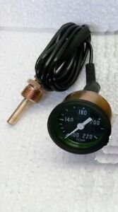 Jeep Willys MB GPW CJ2A 3A CJ3B Mechanical Temperature Gauge 6 ft capillary