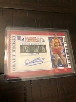 2019 Draft Picks Contenders Bennie Boatwright BLUE Foil Draft Ticket Auto HOT 🔥