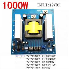 1000W DC12V TO AC 0-50V-110V-220V-330V high frequency inverter variable DC TO AC