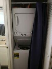 Ge White Laundry Center 2.3 cu.Washer and 4.4 cu. Electric Dryer Gud24Essmww