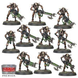 40K Necron Warriors X10 New on Sprue Indomitus