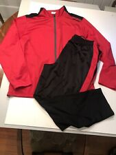 AND1 2 piece track suit tango red & black mens 2XL