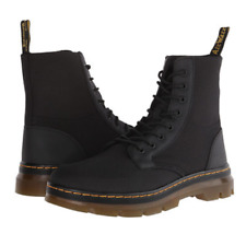 NIB Dr. Martens Men's Size 9 /Women 10 Combs Black Nylon Ankle-High Canvas Boot