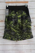 NWT Champion C9 Premium BLACK neon green swim Active Board Shorts Stretch, sz 30
