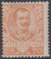 Italy Regno - 1901 Floreale - Sassone n.72 cv 180$ MNH**