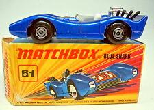 Matchbox Superfast Nr. 61B Blue Shark blaumetallic top in Box