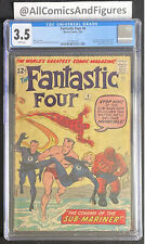 Fantastic Four #4 CGC 3.5 WHITE Pages! First Appearance of Namor the Sub-Mariner