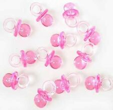 144 Mini Pink Baby Girl Pacifier Baby Shower Reveal Favors Party Decoration USA
