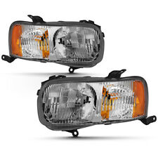 01-04 Ford Escape Factory Style Direct Replacement Headligh Left+Right Chrome