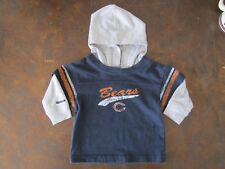REEBOK NFL TEAM APPAREL KIDS CHICAGO BEARS FAUX DOUBLE SHIRT HOODED T SIZE 12MTH