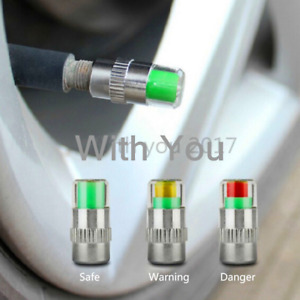 4x 36PSI Car Auto Tire Pressure Monitor Valve Stem Caps Sensor Indicator Warning