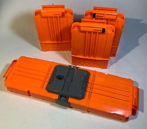 Lot of 5 Nerf N-Strike 6 Max Dart Gun Ammo Clip Magazines & Flip Clip Holder
