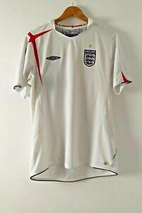 ENGLAND NATIONAL TEAM 2005/2007 HOME FOOTBALL SHIRT JERSEY UMBRO SIZE L ADULT