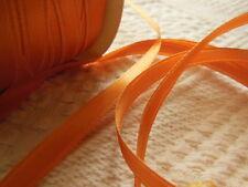 ruban vintage en satin orange 5 mètres sur 0,8 cm creation couture bijoux