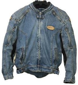 Cortech Rider Blues DSX Motorcycle Jean Jacket Mens Medium Size 42 Armored Denim