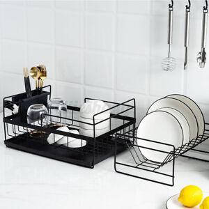 Dish Drying Rack Kitchen Organizer Over Sink Dish Drainer Stainless Steel Holder