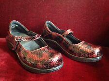 Madison Comfort Faux Snakeskin Mary Jane clog style shoes 8-8 1/2 barely worn