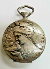 Hebdomas-Arnex  pocket watch  case with  cover antique silver plate