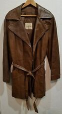 Vintage 70s Surrey Classics of Canada Womens Brown Leather Jacket Coat Size M ?