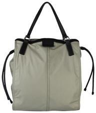 New Burberry Women's Beige Nylon Tote Bag w/black Leather Trim 35160011