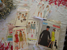 Vogue, new look , McCalls, Simplicity- 60s thru 80s,group of 9 sewing pattern