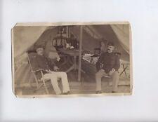 Original Spanish American War Under Tent c1898