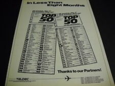 TELDEC List Of Top 50 Best Sellers 1979 PROMO POSTER AD mint condition