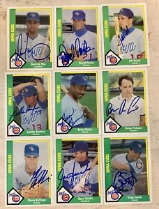1990 Iowa Cubs signed Team Set Lot 18 Total Autographs Chicago CMC