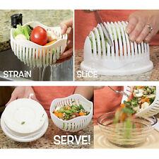 Fresh Hot Salad Maker Bowl Salad Cutter Stain Slice Serve in 60 Seconds