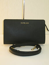 Michael Kors Black Saffiano Leather Large Crossbody Clutch Bag $168 (torn strap)