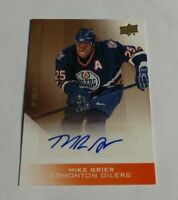 MIKE GRIER - 2013 UPPER DECK OILERS - FRANCHISE INK - AUTOGRAPH -