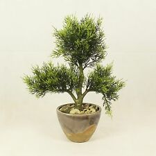 Bonsai Tree in Ceramic Pot, Artificial Plant Decoration for Office and Home 35cm