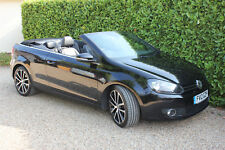 VW Golf Cabriolet Convertible 1.4 TSI 2012 Black. Full VW History, 11 months MOT