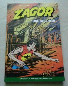 """ZAGOR """"FUOCHI NELLA NOTTE"""" COLLEZIONE STORICA A COLORI N°210"""