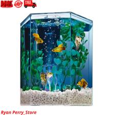 New listing Hexagon Aquarium Tetra Tank Led Bubbler Kit Gallon Gold Fish Betta Starter Set