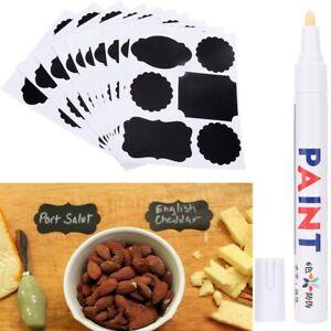 10pcs Chalkboard Sticker Kitchen Spice Label Jam Jar Bottle Tags with Marker Pen
