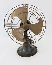 "Vintage GE General Electric 272917-1 Fan 15"" Oscillating 3 Blade Steampunk"