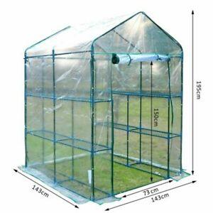 Mini Greenhouse PVC Plastic Garden Outdoor Plants Grow Grow 73*143*195cm New