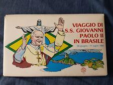 VATICANO SET COMPLETO BUSTE VIAGGIO DI GIOVANNI PAOLO II IN BRASILE ENTRA FOTO