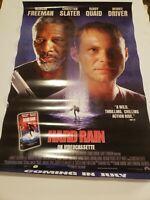 Hard Rain - Freeman - Slater - 27 x 41-1/2 - 1997 Video Store Poster - w/extra