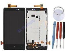 ECRAN LCD + VITRE TACTILE SUR CHASSIS BLOC COMPLETE POUR NOKIA LUMIA 820 NOIR
