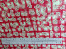 Puppies At Play Fabric Red Gingham Design Mabel Lucie Attwell Woodrow Studio BTY