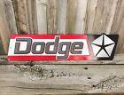 """Dodge Dealer Logo 20"""" Embossed Metal Tin Sign Vintage Chrysler Style Garage New"""