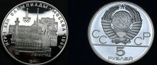 1977 Russia/USSR  Silver 1/2 OZ Proof 5 Roubles Moscow Olympic-Leningrad