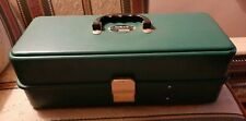 Vintage UMCO Green Plastic Fishing Tackle Box Model 173-P