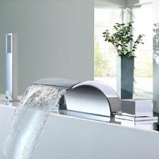 5pcs Bathroom Chrome Basin Mixer Brass Bathtub Faucet&Plastic Hand Shower Set