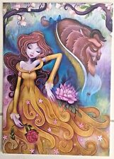 "Disney WONDERGROUND Postcard ""Gentle Companion""  by Jeremiah Ketner BEAUTY BEAST"