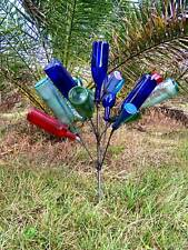 Small 15 -16 Wine Garden Bottle Tree Southern Steel Yard Art Stake Free Shipping